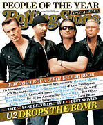U2 Photo Framed Prints - Rolling Stone Cover - Volume #965 - 12/30/2004 - U2 Framed Print by Ruven Afanador