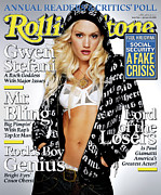 Featured Prints - Rolling Stone Cover - Volume #966 - 1/27/2005 - Gwen Stefani Print by Max Vadukul
