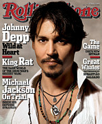 Actors Photo Prints - Rolling Stone Cover - Volume #967 - 2/10/2005 - Johnny Depp Print by Albert Watson