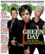 Green Prints - Rolling Stone Cover - Volume #968 - 2/24/2005 - Green Day Print by James Dimmock