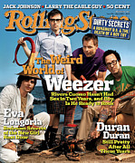 Featured Framed Prints - Rolling Stone Cover - Volume #973 - 5/5/2005 - Weezer Framed Print by Martin Schoeller