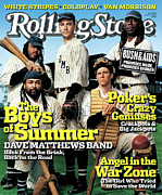 Featured Framed Prints - Rolling Stone Cover - Volume #976 - 6/16/2005 - Dave Matthews Band Framed Print by Martin Schoeller