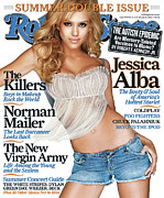 Featured Prints - Rolling Stone Cover - Volume #977 - 6/30/2005 - Jessica Alba Print by Matthew Rolston