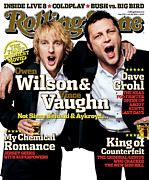 Rolling Stone Magazine Framed Prints - Rolling Stone Cover - Volume #979 - 7/28/2005 - Owen Wilson and Vince Vaughn Framed Print by Max Vadukul