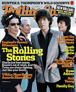 Featured Prints - Rolling Stone Cover - Volume #983 - 9/22/2005 - Rolling Stones Print by Anton Corbijn