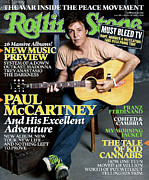 Paul Mccartney Prints - Rolling Stone Cover - Volume #985 - 10/20/2005 - Paul McCartney Print by Max Vadukul