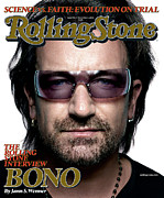 Bono Metal Prints - Rolling Stone Cover - Volume #986 - 11/3/2005 - Bono Metal Print by Platon