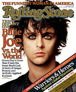 Billie Framed Prints - Rolling Stone Cover - Volume #987 - 11/17/2005 - Billie Joe Armstrong Framed Print by Albert Watson