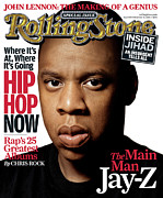 Jay Framed Prints - Rolling Stone Cover - Volume #989 - 12/15/2005 - Jay-Z Framed Print by Albert Watson