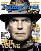 Neil Young Metal Prints - Rolling Stone Cover - Volume #992 - 1/26/2006 - Neil Young Metal Print by Platon