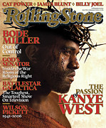Rock N Roll Framed Prints - Rolling Stone Cover - Volume #993 - 2/9/2006 - Kanye West Framed Print by David LaChapelle