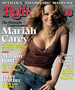 Rollingstone Posters - Rolling Stone Cover - Volume #994 - 2/23/2006 - Mariah Carey Poster by Brigette Lacombe