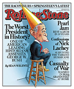 George Bush Acrylic Prints - Rolling Stone Cover - Volume #999 - 5/4/2006 - George W. Bush Acrylic Print by Robert Grossman