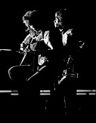 Performing Photo Acrylic Prints - Rolling Stones Mick and Keith 1970 Acrylic Print by Chris Walter