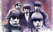 Stones Paintings - Rolling Stones  by Yuriy  Shevchuk