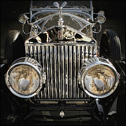 Kirkland Digital Art Prints - Rolls Royce Frontal Print by Curt Johnson