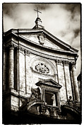 Crucifix Art Photo Posters - Roma Church Poster by John Rizzuto