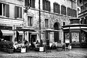 Outdoor Cafe Photo Prints - Roma Lunch Print by John Rizzuto