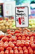 Grocery Store Prints - Roma Tomatoes On Sale Print by Jetta Productions, Inc