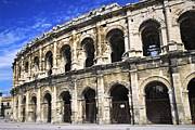 Historical Buildings Posters - Roman arena in Nimes France Poster by Elena Elisseeva