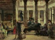 Lounging Painting Posters - Roman Art Lover Poster by Sir Lawrence Alma-Tadema