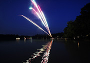 4th Of July Metal Prints - Roman Candle Metal Print by Ty Helbach