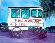 Candy Pastels - Roman Candy Vendor by Julie Graff