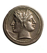 Coin Prints - Roman Coin Featuring Janus Print by Photo Researchers