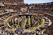Amphitheater Framed Prints - Roman Coleseum Interior Framed Print by David Smith
