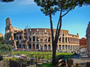 Competitions Framed Prints - Roman Colosseum Framed Print by Al Bourassa