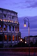 Lamp Post Framed Prints - Roman Colosseum Framed Print by Traveler Scout