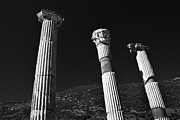 Ancient Ruins Prints - Roman Columns. Print by Terence Davis