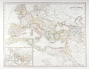 Cartography Art - Roman Empire At The Time Of Augustus by Fototeca Storica Nazionale