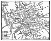 1st Century B.c. Photos - Roman Empire: Map Of Rome by Granger