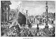 Crowd Scene Art - Roman Forum by Granger
