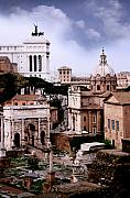 Famous Cities Framed Prints - Roman Forum Framed Print by Traveler Scout