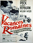 Foreign Posters - Roman Holiday, Gregory Peck, Audrey Poster by Everett