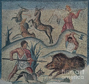 Etruscan Prints - Roman Hunting Party, 2nd Century Bc Print by Photo Researchers