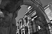 Ephesus Framed Prints - Roman Library Framed Print by Terence Davis