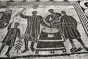 Roman Mosaic, Ostia Antica Print by Sheila Terry