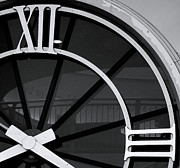 Roman Numeral Prints - Roman Numeral Clock Print by Janet Smith