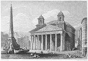 1833 Prints - Roman Pantheon, 1833 Print by Granger