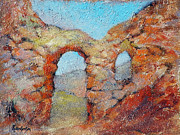 Italian Landscapes Paintings - Roman Relicts 21 by Ekaterina Mortensen