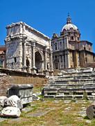 Roman Ruins - Roman Forum Print by Gregory Dyer