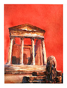 Byzantine Painting Prints - Roman Ruins- Tunisia Print by Ryan Fox