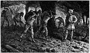 Oppression Prints - Roman Slavery: Coal Mine Print by Granger