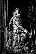 Flat Iron Framed Prints - Roman Soldier in NYC. No1 Framed Print by Val Black Russian Tourchin