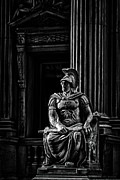 Flat Iron Framed Prints - Roman Soldier in NYC. No4 Framed Print by Val Black Russian Tourchin