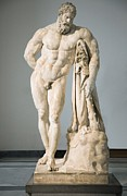 Greek Sculpture Posters - Roman Statue Of Hercules Poster by Sheila Terry