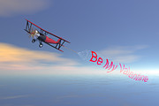 Bi-plane Prints - Romance in the air  Print by Carol and Mike Werner